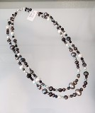 Double-strand mixed pearl necklace.