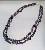 Double-strand Amethyst necklace
