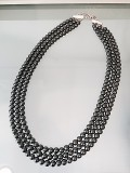 Tripple-strand Hematite necklace